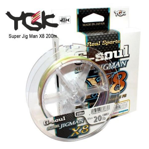 Плетеный шнур YGK Super Jig Man X8 200м
