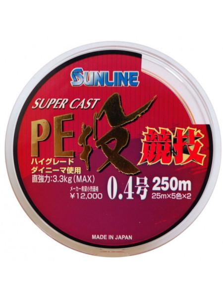 Плетеный шнур Sunline Super Cast Nagi Kyogi