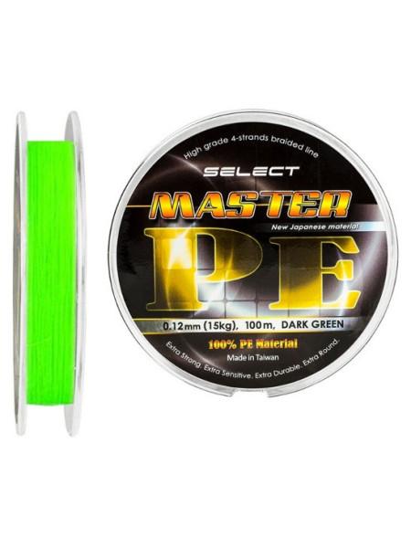 Плетеный шнур Select Master PE 150m (Салатовый)