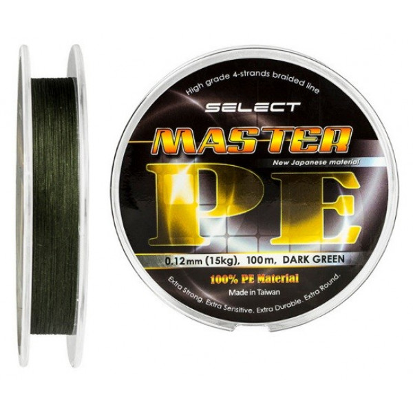 Плетеный шнур Select Master PE 150m (Темн.-зеленый)