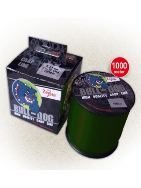 Леска карповая Carp Zoom Bull-Dog Carp Line 1000m (темно - зеленая)