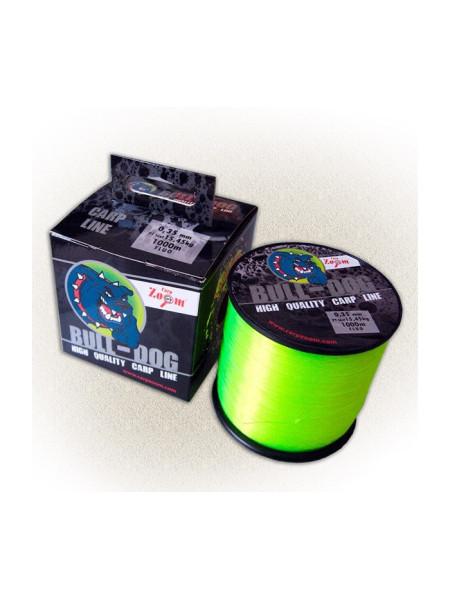 Леска карповая Carp Zoom Bull-Dog Carp Line 1000m (флуоресцентная-салатовая)