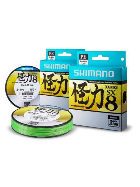 Плетеный шнур Shimano Kairiki PE SX8