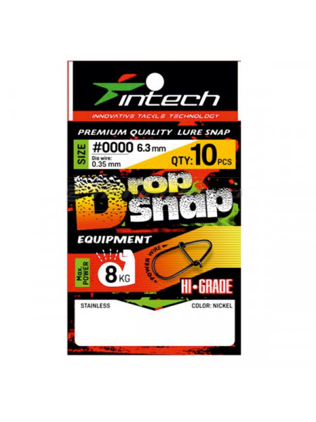 Застежка Intech Drop Snap, 10шт