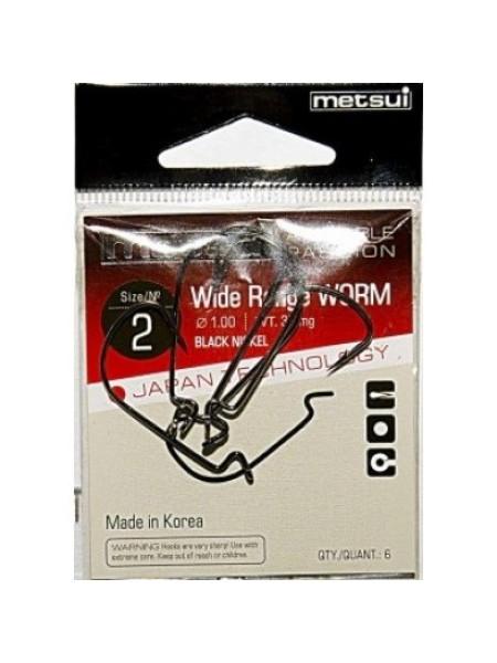 Офсетные крючки Metsui Wide Range Worm