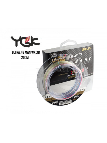 Шнур плетеный YGK Ultra Jig Man WX X8 200m