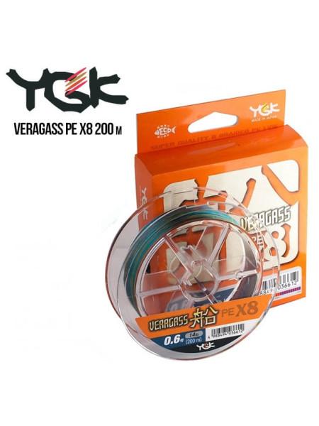 Шнур плетеный YGK Veragass PE x8 200m