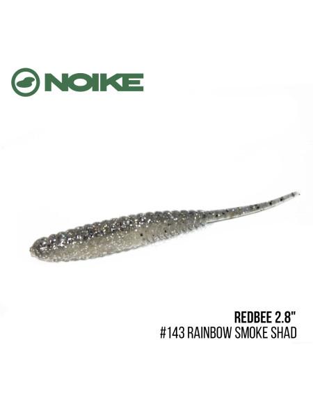 "Приманка Noike Redbee 2.8"" (10шт) (#143 Rainbow Smoke Shad)"