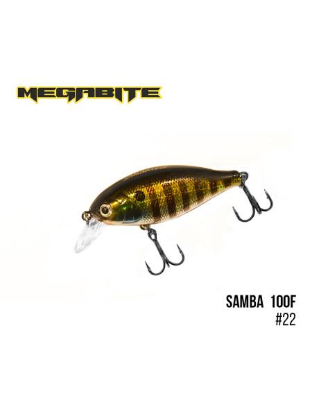 Воблер Megabite Samba 100 F (60 mm, 12,5 g, 1 m) (22)