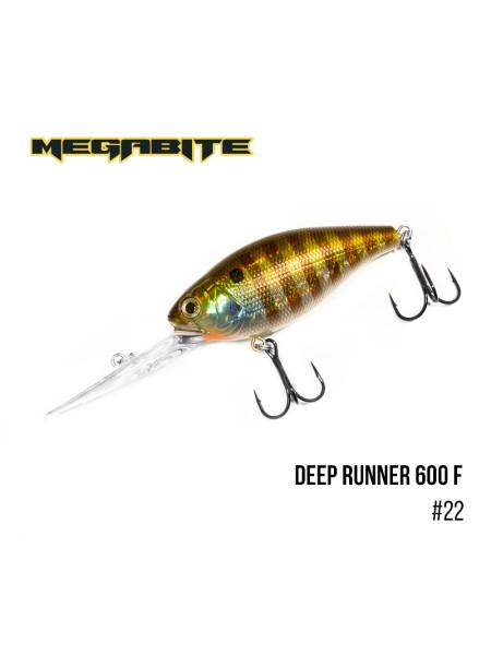 Воблер Megabite Deep Runner 600 F (80 мм, 26.7 гр, 6 m) (22)