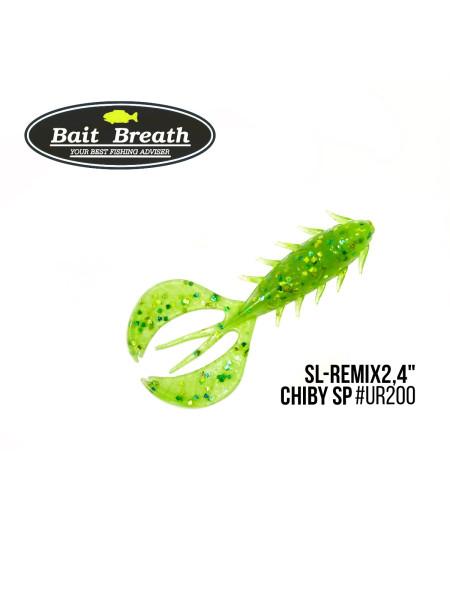 """Приманка Bait Breath SL-Remix Chiby SP 2,4"""" (10 шт) (Ur200 Chartreuse)"""