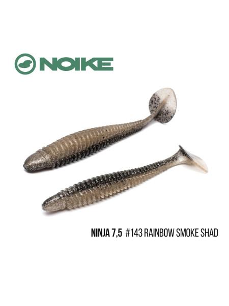 "Приманка Noike NINJA 7,5"" (2шт) (#143 Rainbow Smoke Shad)"
