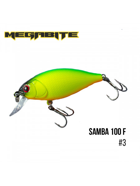 Воблер Megabite Samba 100 F (60 mm, 12,5 g, 1 m) (3)