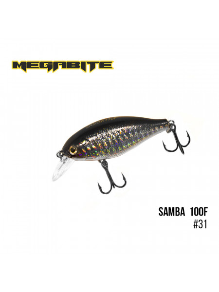 Воблер Megabite Samba 100 F (60 mm, 12,5 g, 1 m) (31)