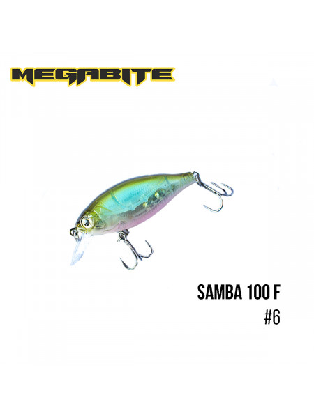Воблер Megabite Samba 100 F (60 mm, 12,5 g, 1 m) (6)