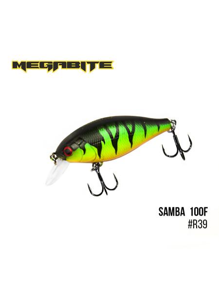 Воблер Megabite Samba 100 F (60 mm, 12,5 g, 1 m) (R39)