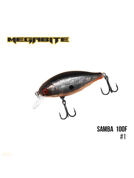 Воблер Megabite Samba 100 F (60 mm, 12,5 g, 1 m) (1)
