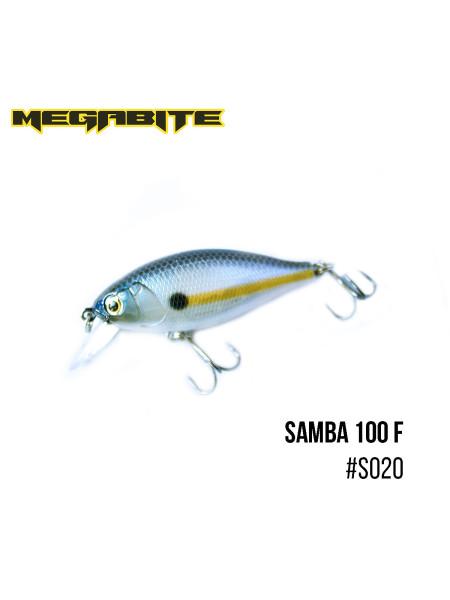 Воблер Megabite Samba 100 F (60 mm, 12,5 g, 1 m) (S020)