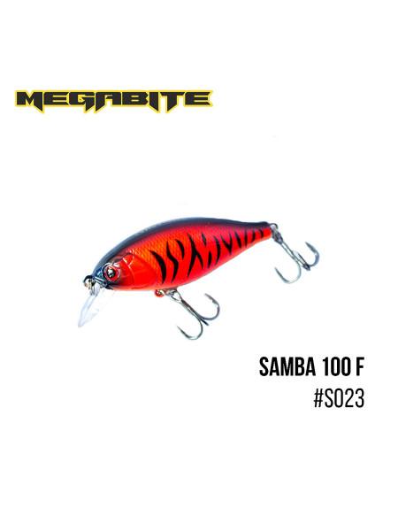 Воблер Megabite Samba 100 F (60 mm, 12,5 g, 1 m) (S023)