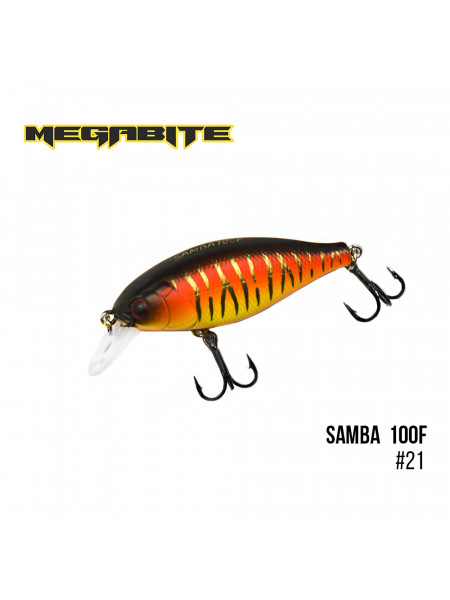 Воблер Megabite Samba 100 F (60 mm, 12,5 g, 1 m) (21)