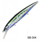 Воблер Bassday Mogul Minnow 110SP SB-304 Silver Black OB